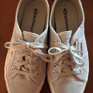 Superga Gray Canvas Sneakers